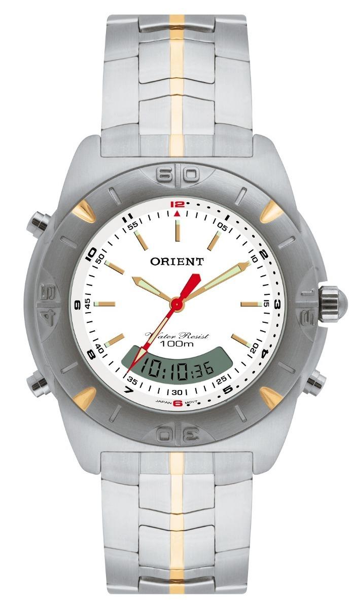 085fe917b98 Relógio Orient Masculino Anadigi Mtssa003 Prata Aço Oferta - R  398 ...