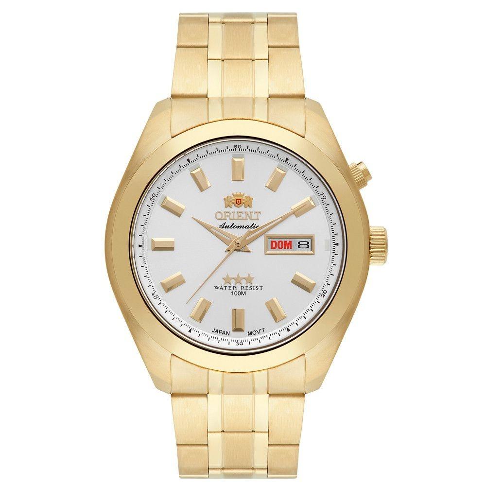 8bb67a30424 relógio orient masculino analógico dourado 469gp075s1kx. Carregando zoom.
