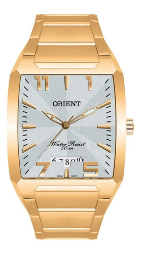 relógio orient masculino analógico dourado ggss1007 s2kx
