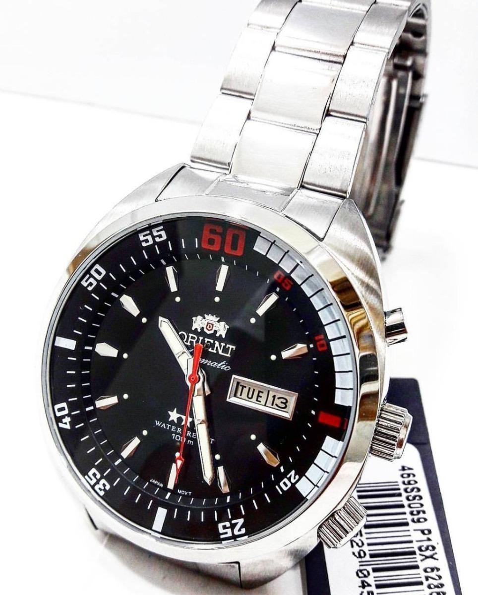 18861cb1d9f relógio orient masculino automático 03 estrelas 469ss059. Carregando zoom.