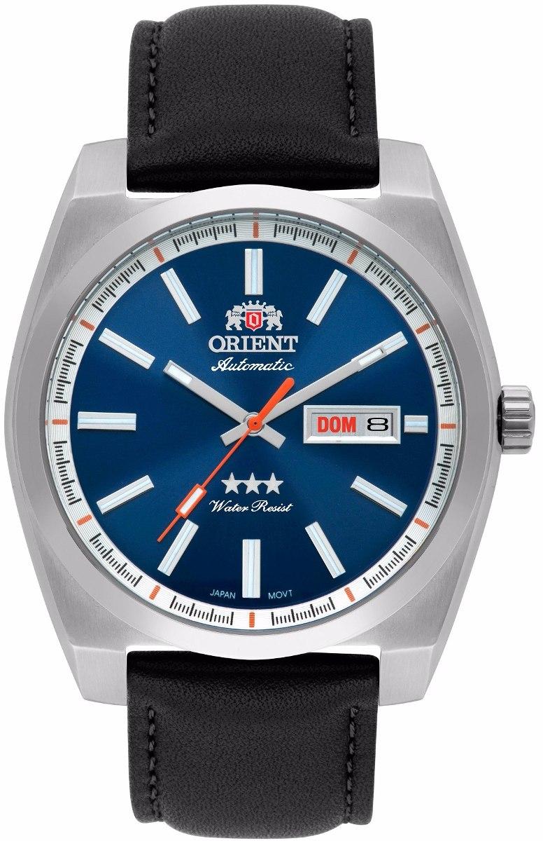 c4b329adc585d relógio orient masculino automático 469ss069 d1px azul retrô. Carregando  zoom.