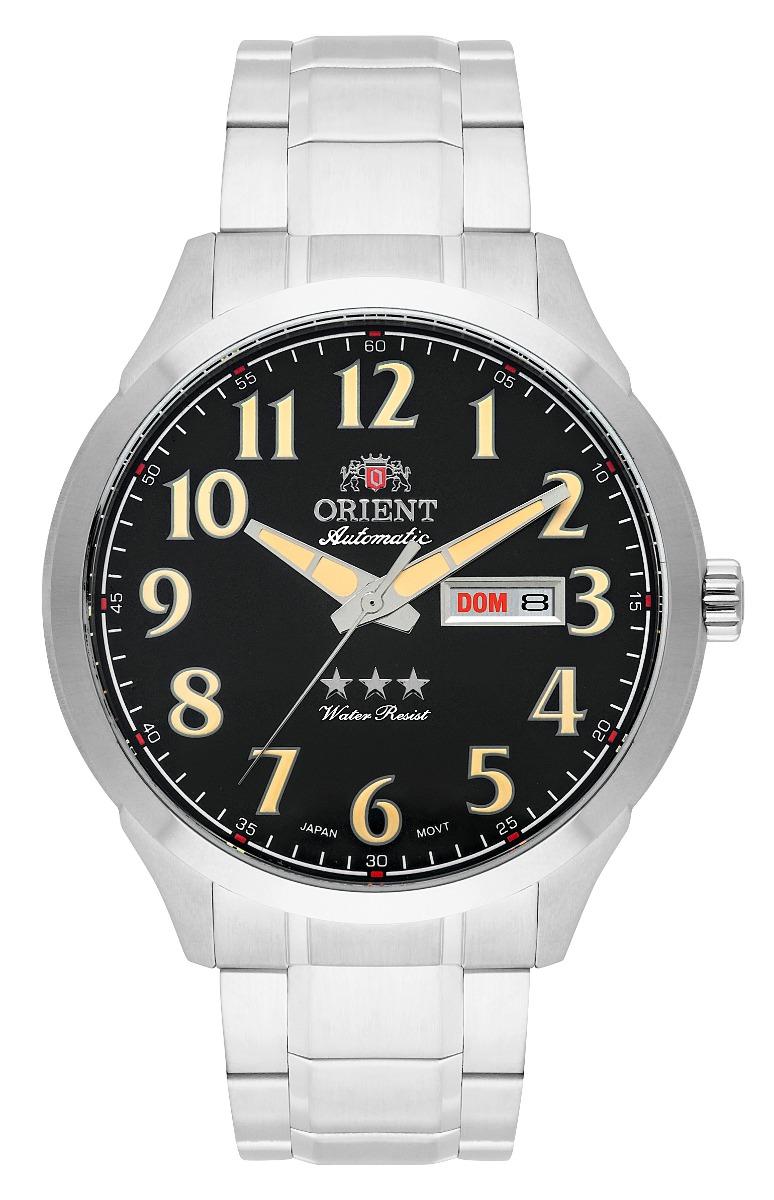 5100bb7212e relógio orient masculino automático 469ss074 p2sx preto. Carregando zoom.