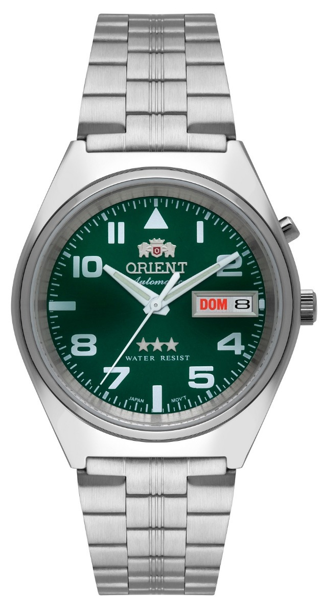 13b43940e0f relógio orient masculino automático 469ss083 e2sx verde. Carregando zoom.