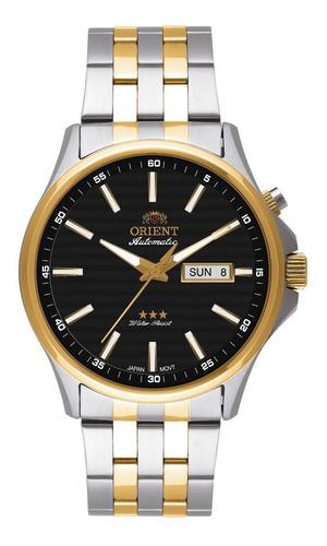 relógio orient masculino automatico 469tt043 p1sk misto aço