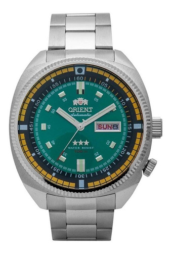 relógio orient masculino automático fundo verde
