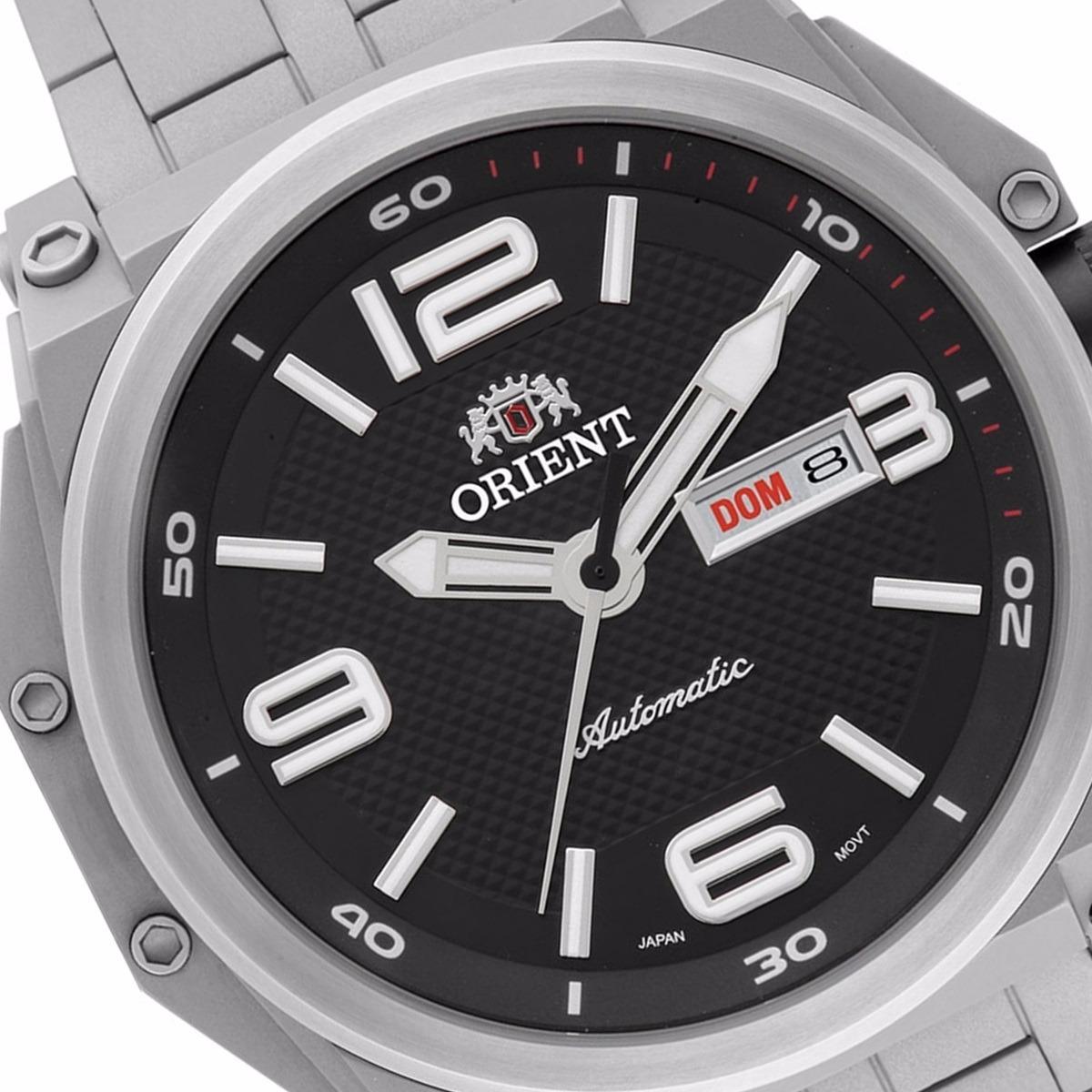 1d4ba89123b relógio orient masculino automático kit titânio 469ti004. Carregando zoom.