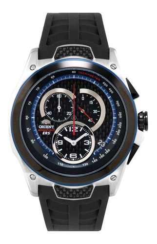 relógio orient masculino chronograph kt00002b p1px - ( nfe )