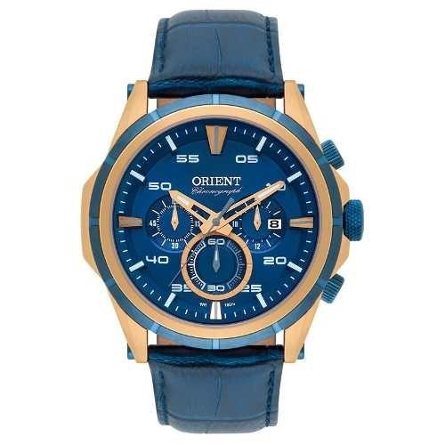 ab8963030b7b7 Relógio Orient Masculino Chronograph - Mrscc011 Rose Azul - R  1.100 ...
