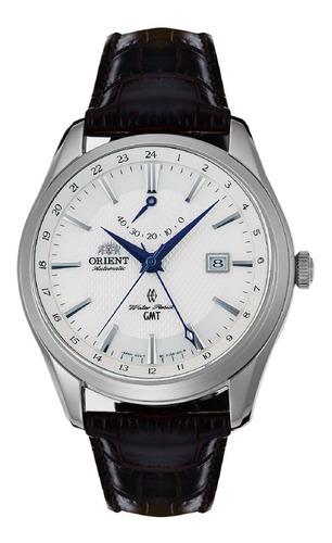 relógio orient masculino classic automatico fdj05003wo couro