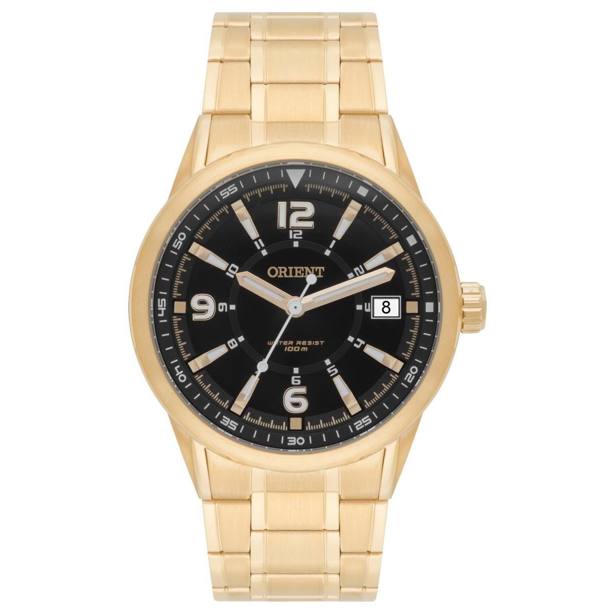 9979432a4ed relógio orient masculino dourado fundo preto mgss1107 p2kx. Carregando zoom.