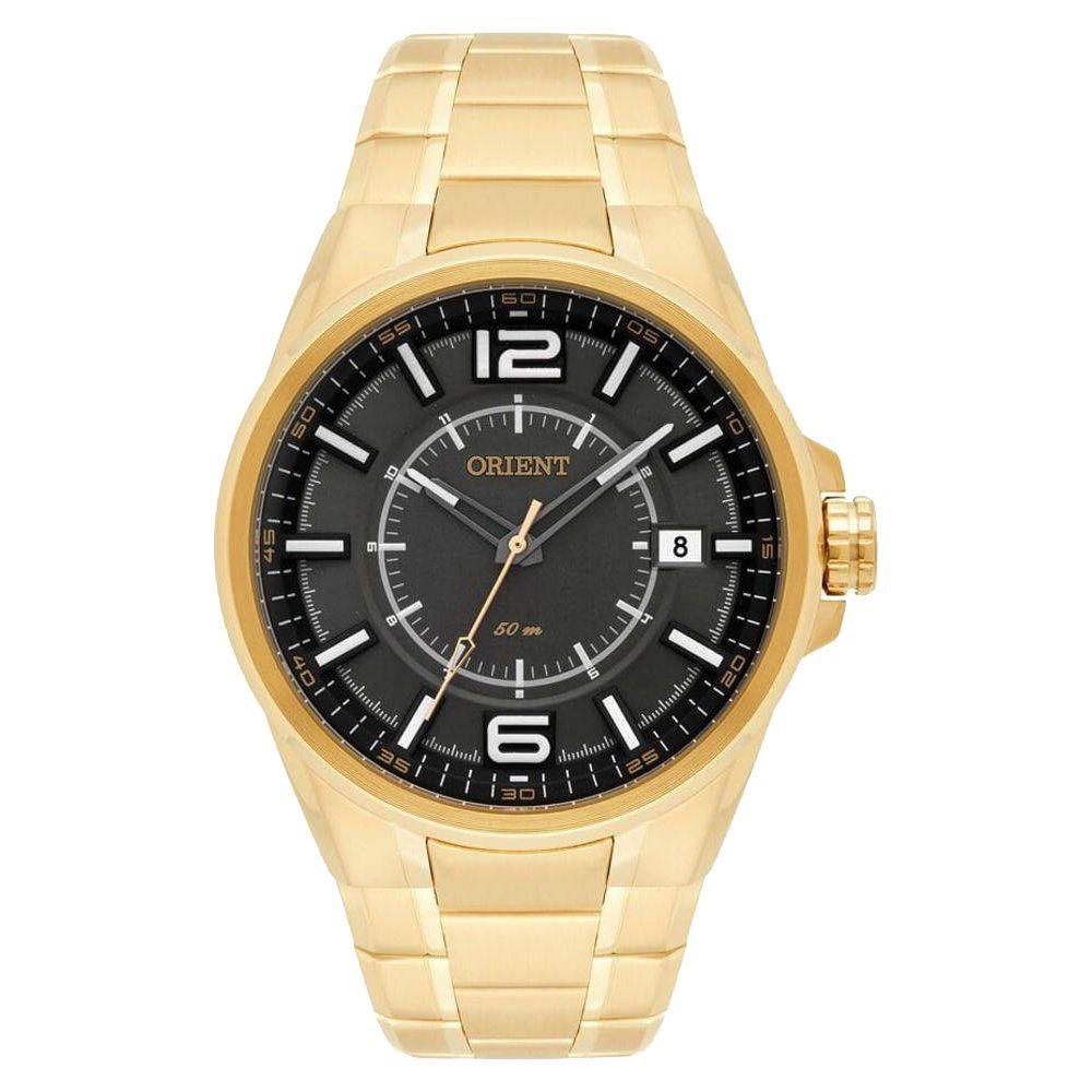 be682619713 relógio orient masculino dourado lançamento 50m mgss1141. Carregando zoom.