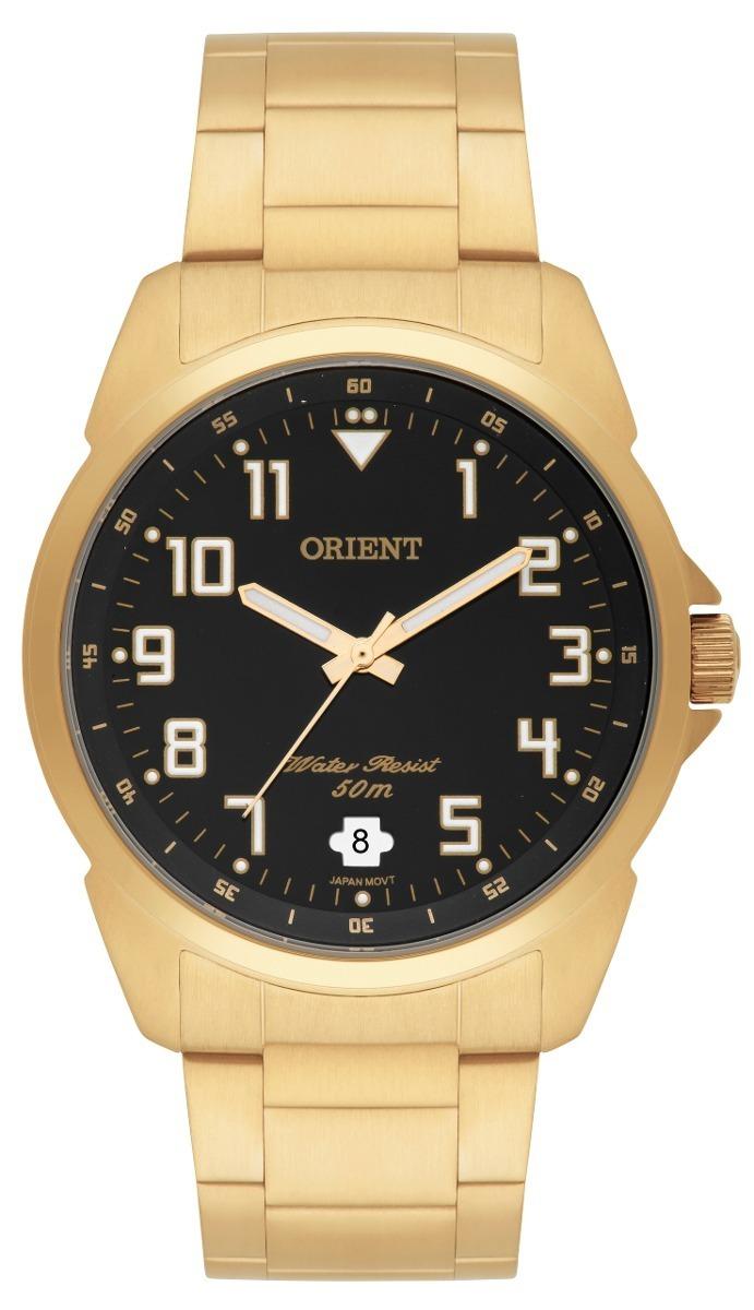 7584ecf5215 relógio orient masculino dourado mgss1103a original tam m. Carregando zoom.