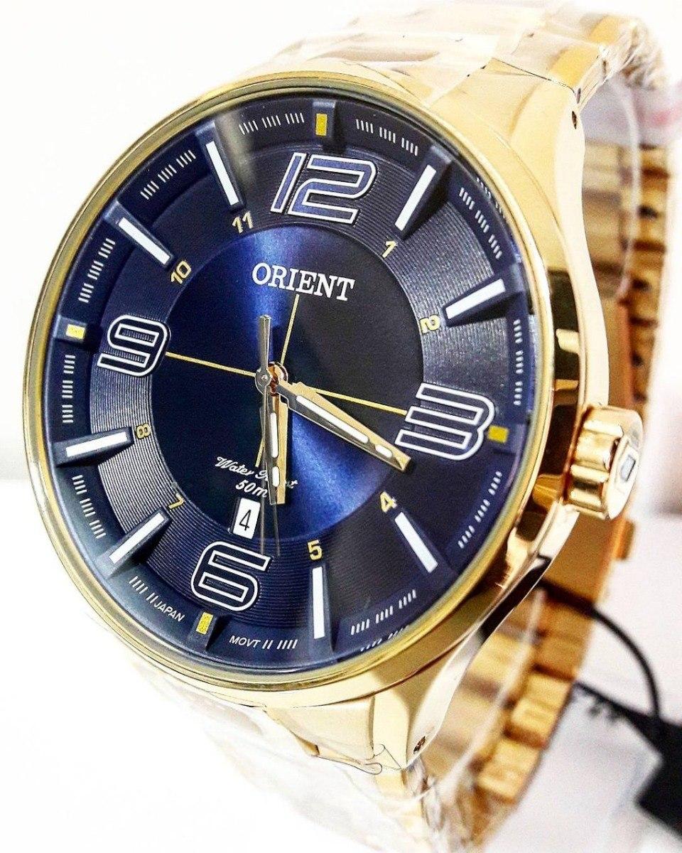 8887072bcf7 relógio orient masculino dourado mgss1136. Carregando zoom.