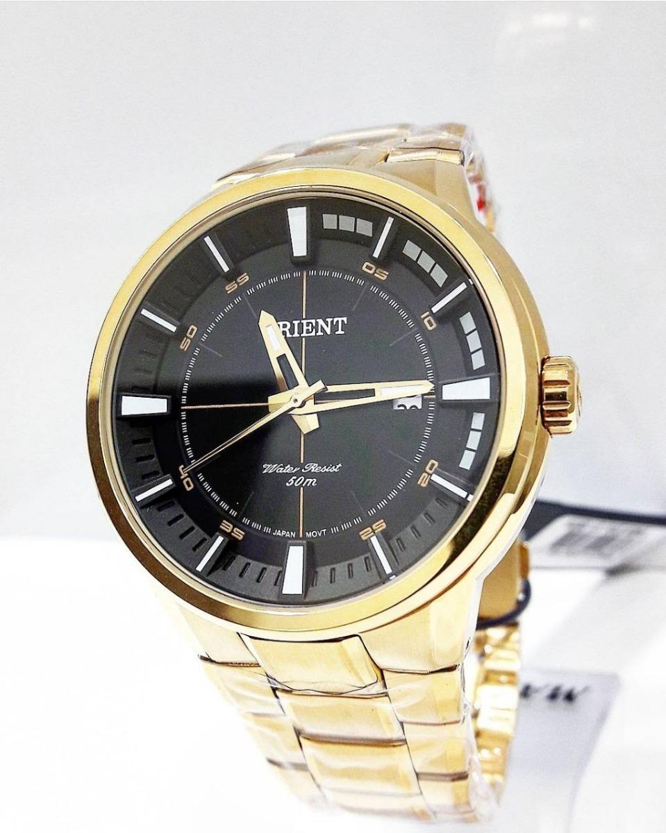 c7c0a686880 relógio orient masculino dourado mgss1137. Carregando zoom.