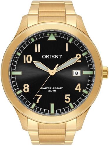 relógio orient masculino dourado -  mgss1181 p2kx