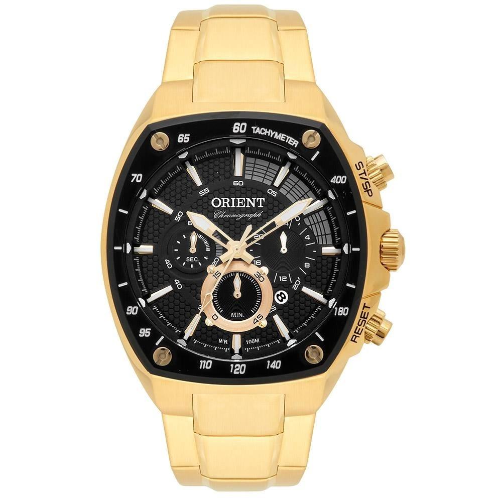 bb29e462803 relógio orient masculino dourado quadrado barato mgssc021a. Carregando zoom.