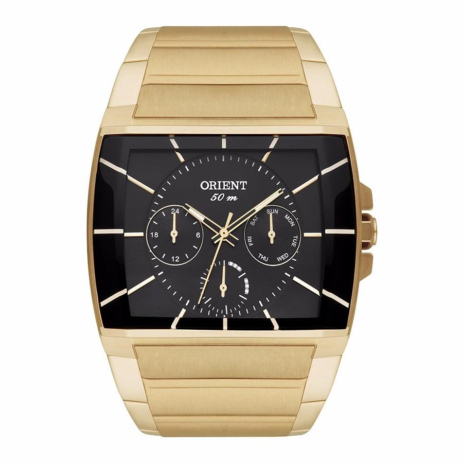 15dd92cdbdb relógio orient masculino ggssm001 p1kx dourado quadrado. Carregando zoom.