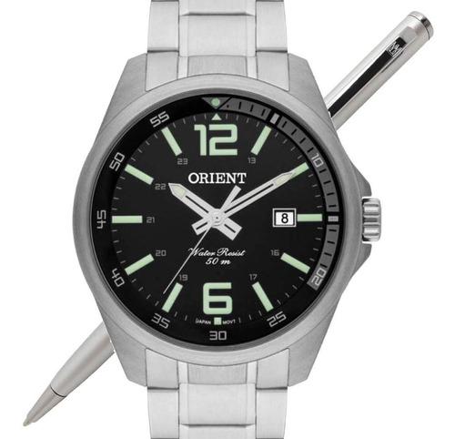 relógio orient masculino mbss1275 p2sx analógico - c/ nfe