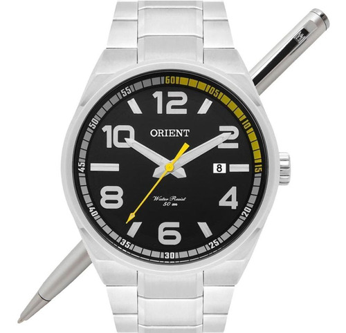 relógio orient masculino mbss1303 p2sx analógico - c/ nfe