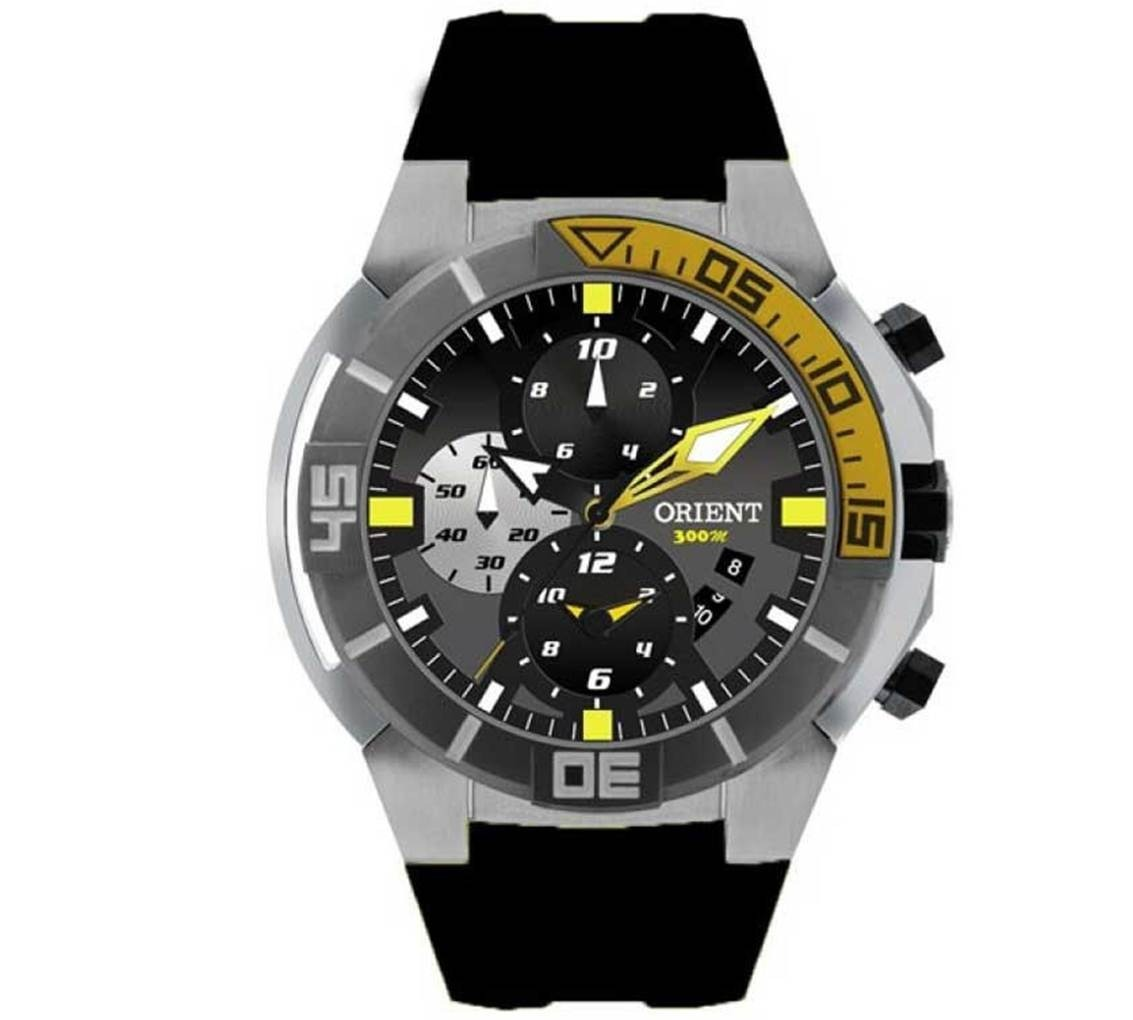 80082785d84 relógio orient masculino mbttc003 p1px seatech titanium. Carregando zoom.