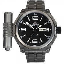 6897709f864 Relógio Orient Masculino Mbttc013 P2gx Cronógrafo Titânium - R  989 ...