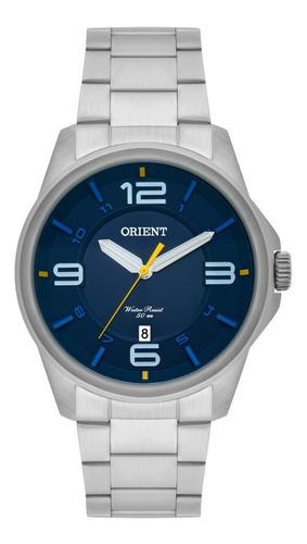 relógio orient masculino original prata mbss1288 d2sx + nf