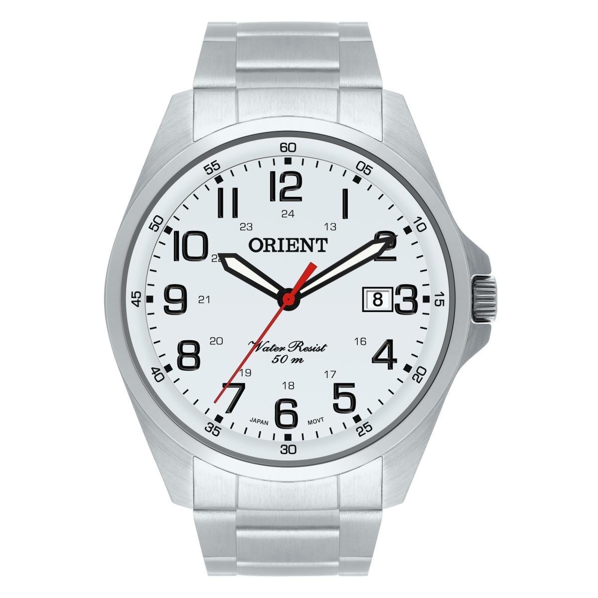 e0cb99d2b73 relógio orient masculino prata - mbss1171 s2sx. Carregando zoom.
