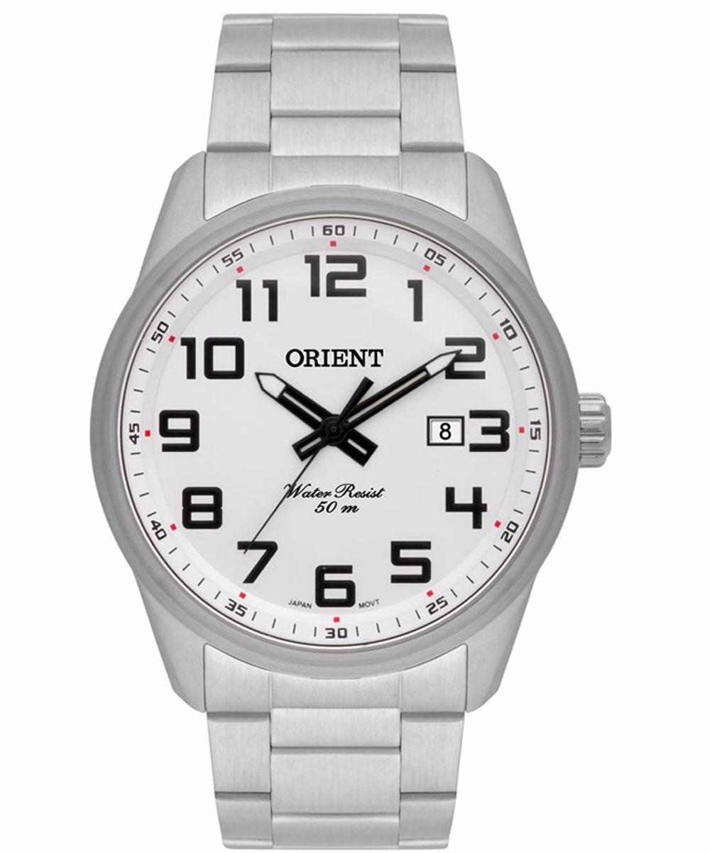 178da5a5e00 relógio orient masculino prata mbss1271 s2sx calendário. Carregando zoom.