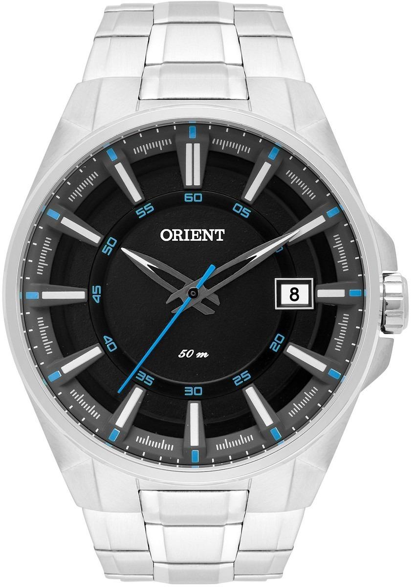13c246ef8ab relógio orient masculino prata mbss1313 pasx calendário. Carregando zoom.