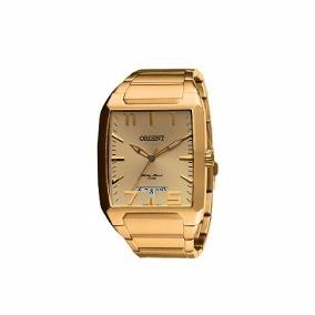 56d7c334d2d Relógio Orient Masculino Quadrado Dourado Masculino Ggss1007 - R ...