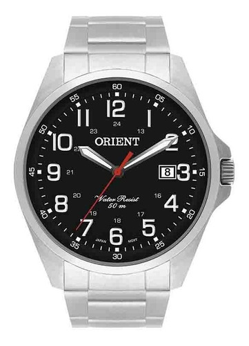 relógio orient masculino ref: mbss1171 p2sx casual
