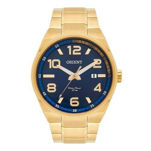 relógio orient masculino ref: mgss1134 d2kx dourado