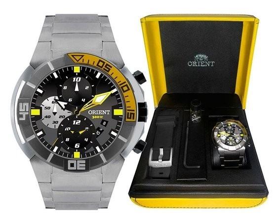 9c3129ecdda Relógio Orient Masculino Seatech Titânio Mergulho Mbttc003 - R  1.190