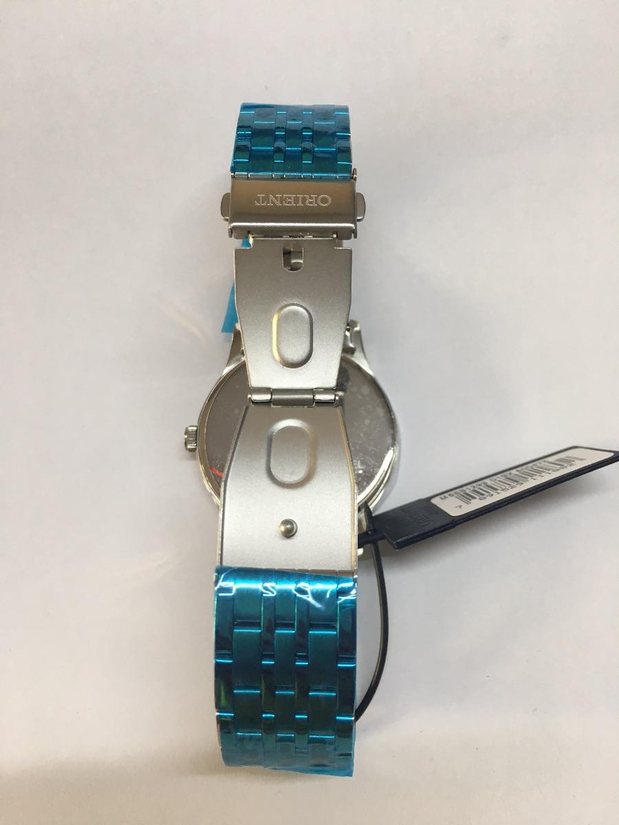 e7befcb3b7e relógio orient masculino slim mbss1293 d1sx azul rose aço. Carregando zoom.