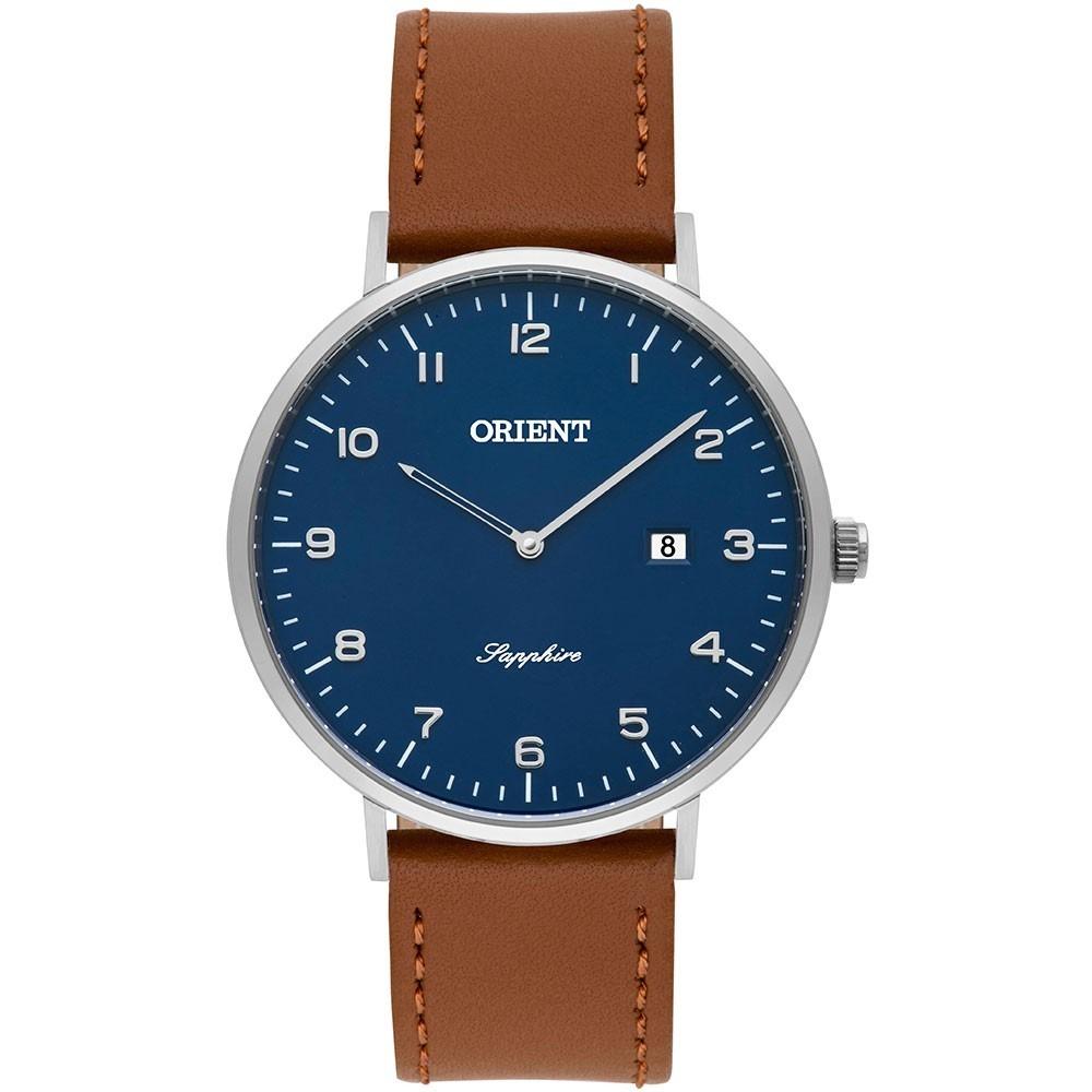 47454441c9b relógio orient masculino slim pulseira de couro mbscs008 nf. Carregando  zoom.