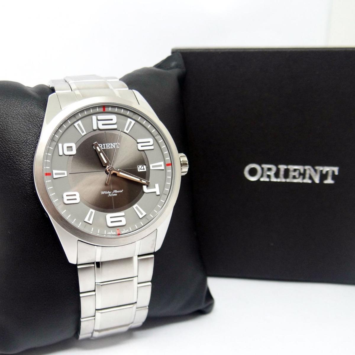 815f9c8c6de relógio orient mbss1297 masculino aço prata. Carregando zoom.