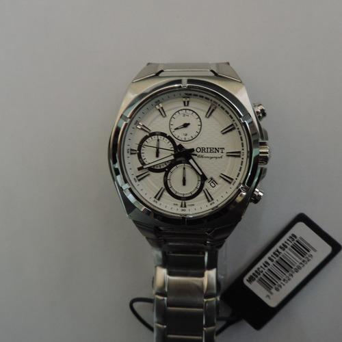 relógio orient mbssc149 unissex quartz vidro cristal mineral