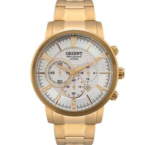 d71e1232d61 Relógio Orient Mgssc006 Masculino Visor Prata Dourado - R  865