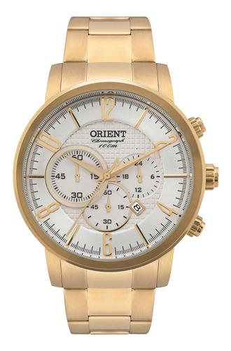 relógio orient mgssc006 s2kx masculino dourado - refinado