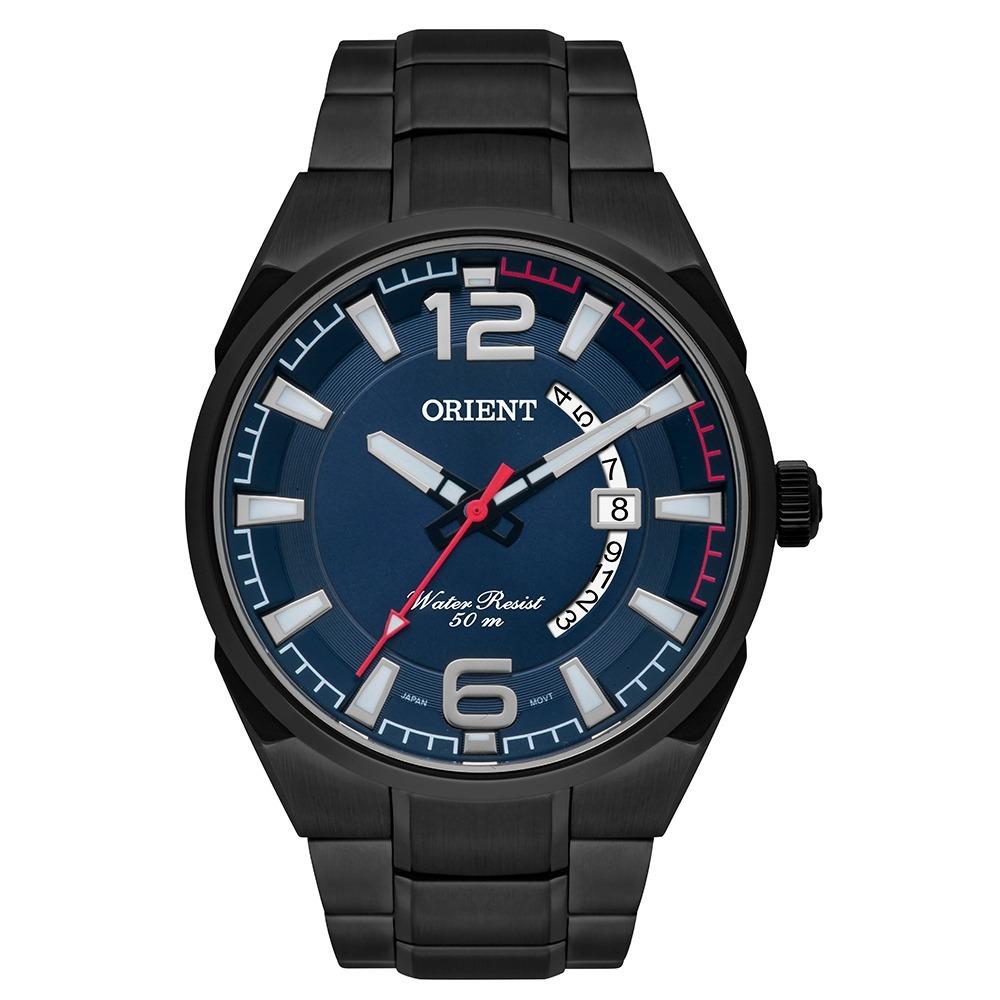 68c148a0db3 relógio orient mpss1007 d2gx preto azul analógico neo sports. Carregando  zoom.