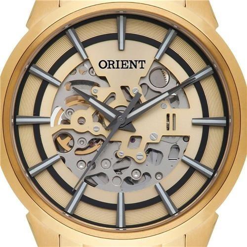 7d48004aed4 Relógio Orient Nh7gp001 C1kx Automático Esqueleto Dourado - R  899 ...