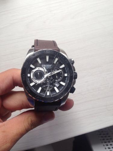 relógio orient / pulseira de couro