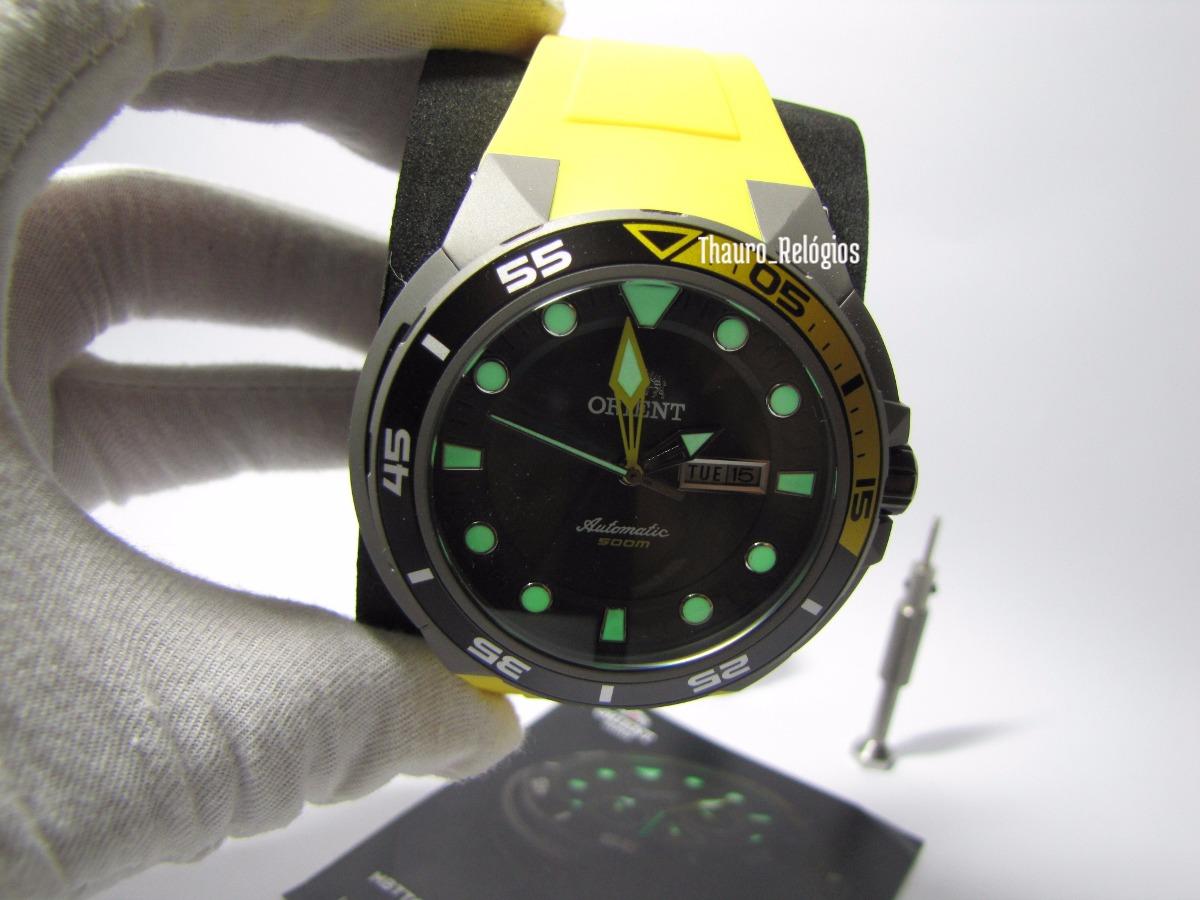 611551cdb84 relógio orient seatech automático 469ti003 + pulseiras extra. Carregando  zoom.