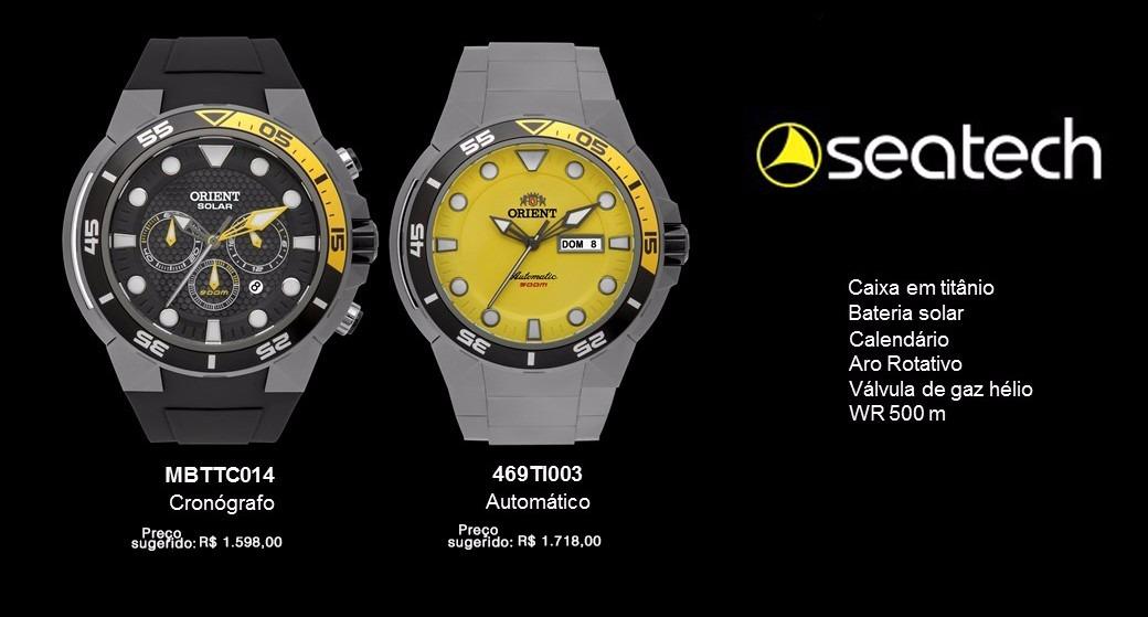 c916ac1cc08 relógio orient seatech mergulho 500m titanium mbttc014 solar. Carregando  zoom.