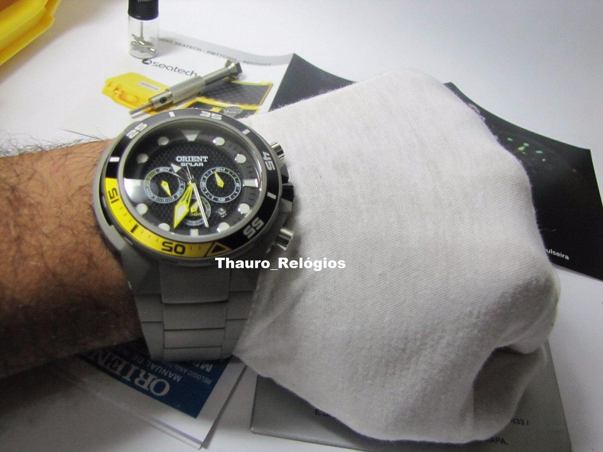 6522b8685e8 relógio orient seatech solar titanium mbttc014 de mergulho. Carregando zoom.