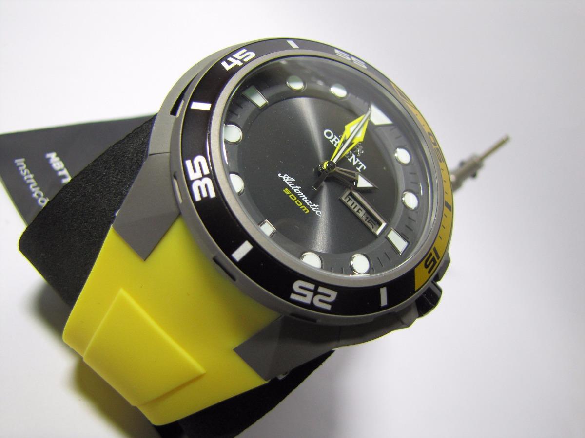 63206460a42 relógio orient seatech titanium automático de mergulho + kit. Carregando  zoom.