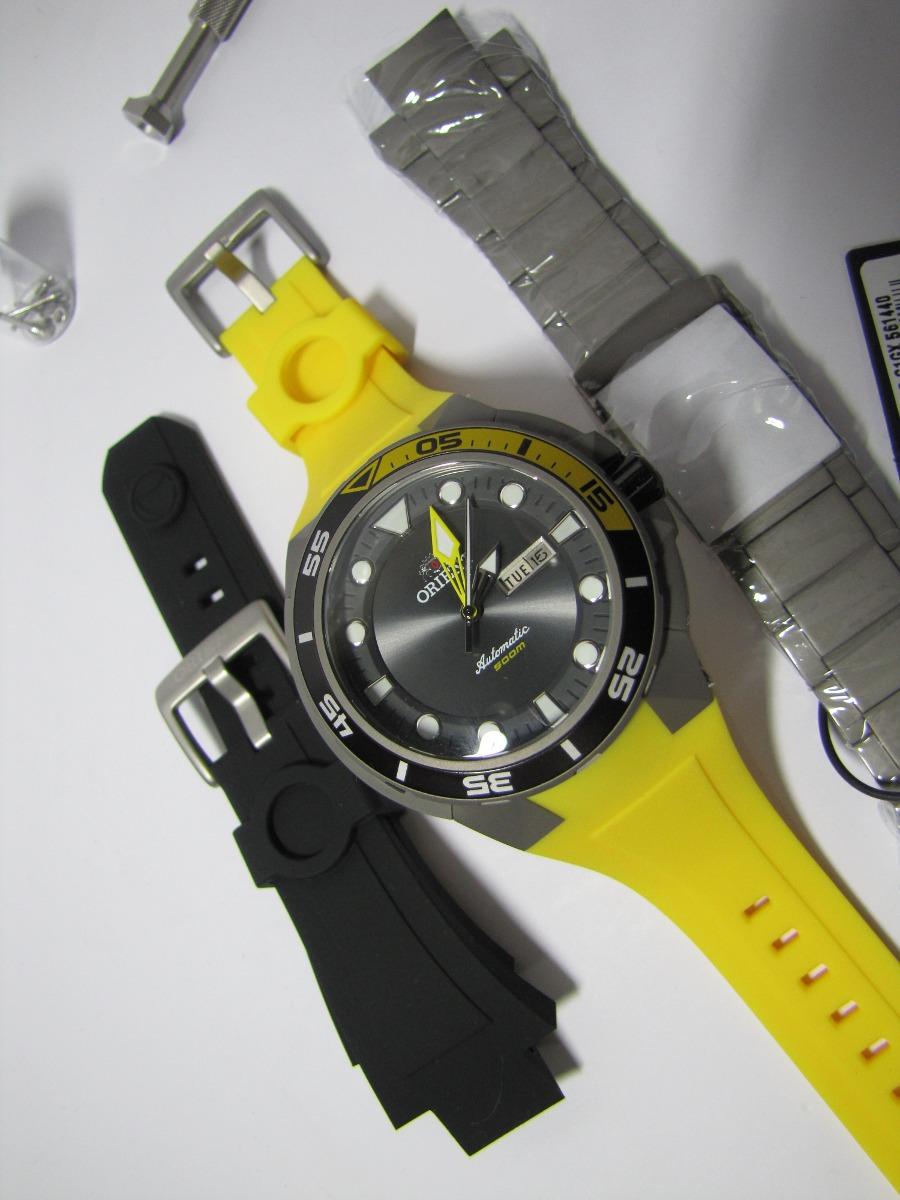 91a456799d1 relógio orient seatech titanium automático de mergulho + kit. Carregando  zoom.