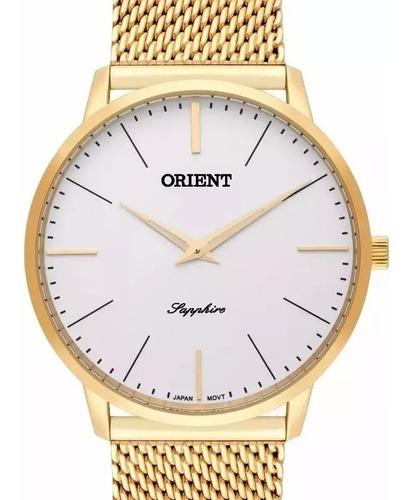relógio orient slim dourado masculino - mgsss005 s1kx