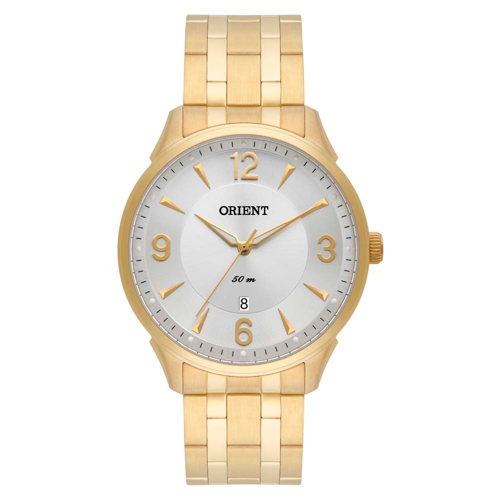 5332a449db4 relógio orient social dourado masculino clássico mgss1118. Carregando zoom.