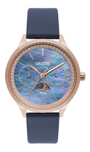 relógio orient swarovski feminino rose frscm010 + nfe